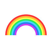 istock Colorful rainbow or color spectrum flat icon for apps and websites 942893810