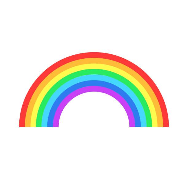 ilustrações, clipart, desenhos animados e ícones de colorido do arco-íris, ou cor espectro plana ícone para aplicações e websites - arco íris