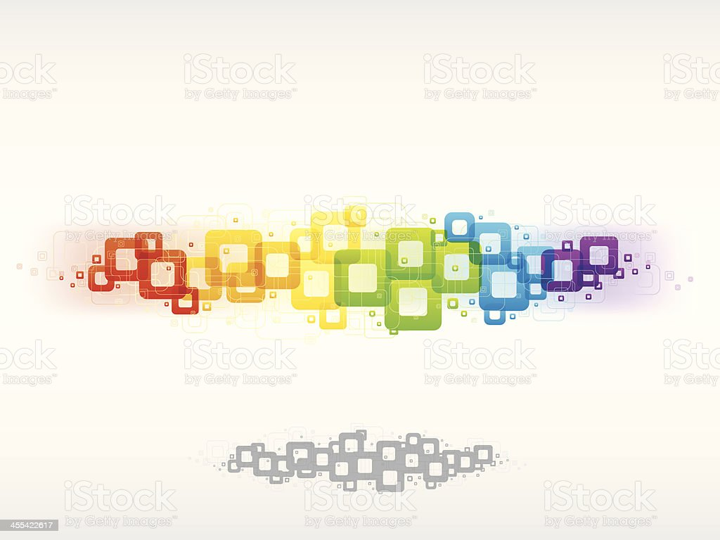 Colorful Rainbow Particles Background royalty-free stock vector art