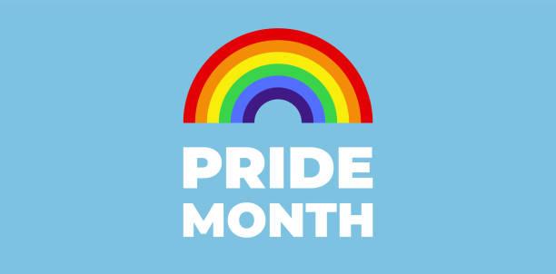 ilustrações, clipart, desenhos animados e ícones de arco-íris colorido. mês do orgulho. bandeira do orgulho lgbt. - lgbt