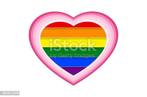 The colors of LGBT or GLBT pride flag, is a symbol of lesbian, gay, bisexual, transgender, and queer/questioning (LGBTQ).