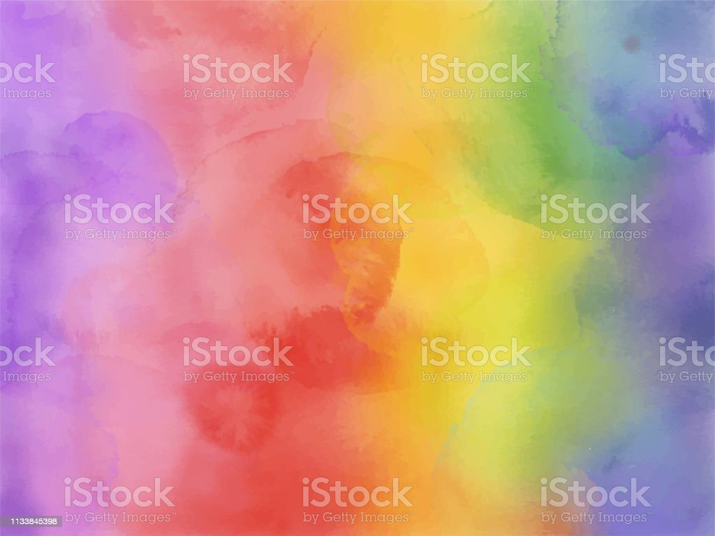 カラフルな虹の水彩画の背景。 - しぶきを上げるのロイヤリティフリーベクトルアート