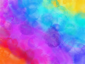 Colorful Rainbow Watercolor Background.