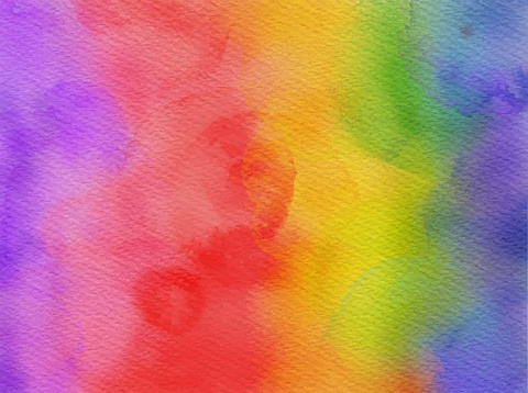 Colorful Rainbow Watercolor Background. Watercolor strokes design element. Multi colored colored hand painted abstract texture. Abstract Wall Texture with Color Brush Strokes. Grunge, Sketch, Graffiti, Paint, Watercolor, Sketch. Grunge Vector Background.
