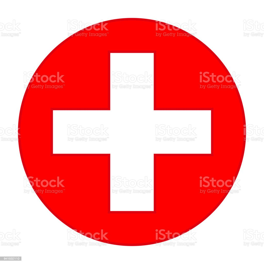 Colorful Red Medical Cross Symbol Stock Vector Art More Images Of