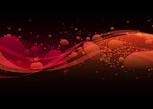 istock Colorful red wave background 1223062435