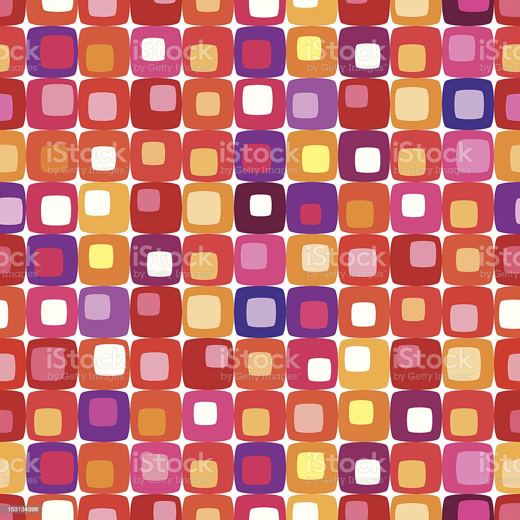 Colorful Retro Background Pattern Tiling Stock Vector Art & More ...