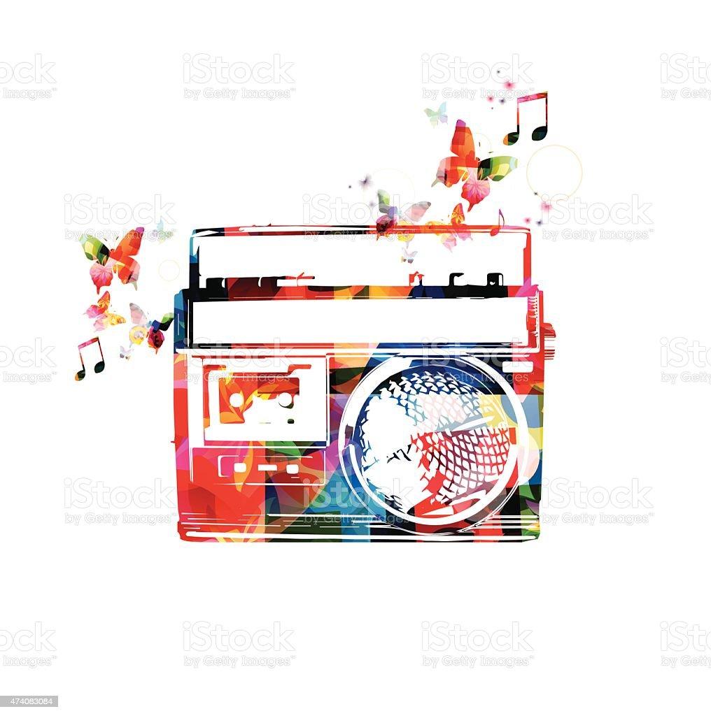 Colorful Retro Radio Design Stock Vector Art & More Images of 2015 ...