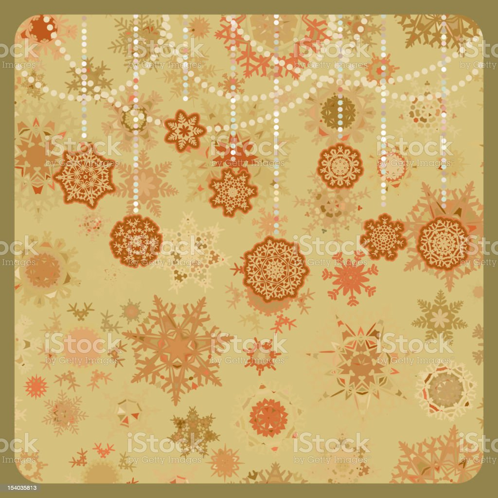 Colorful retro snowflake pattern. EPS 8 royalty-free stock vector art