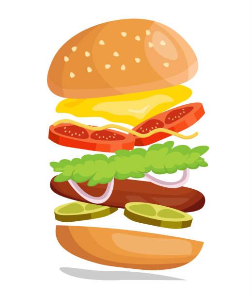 Grilled Chicken Burger Illustrations, Royalty-Free Vector ...  Retro Clip Art Food