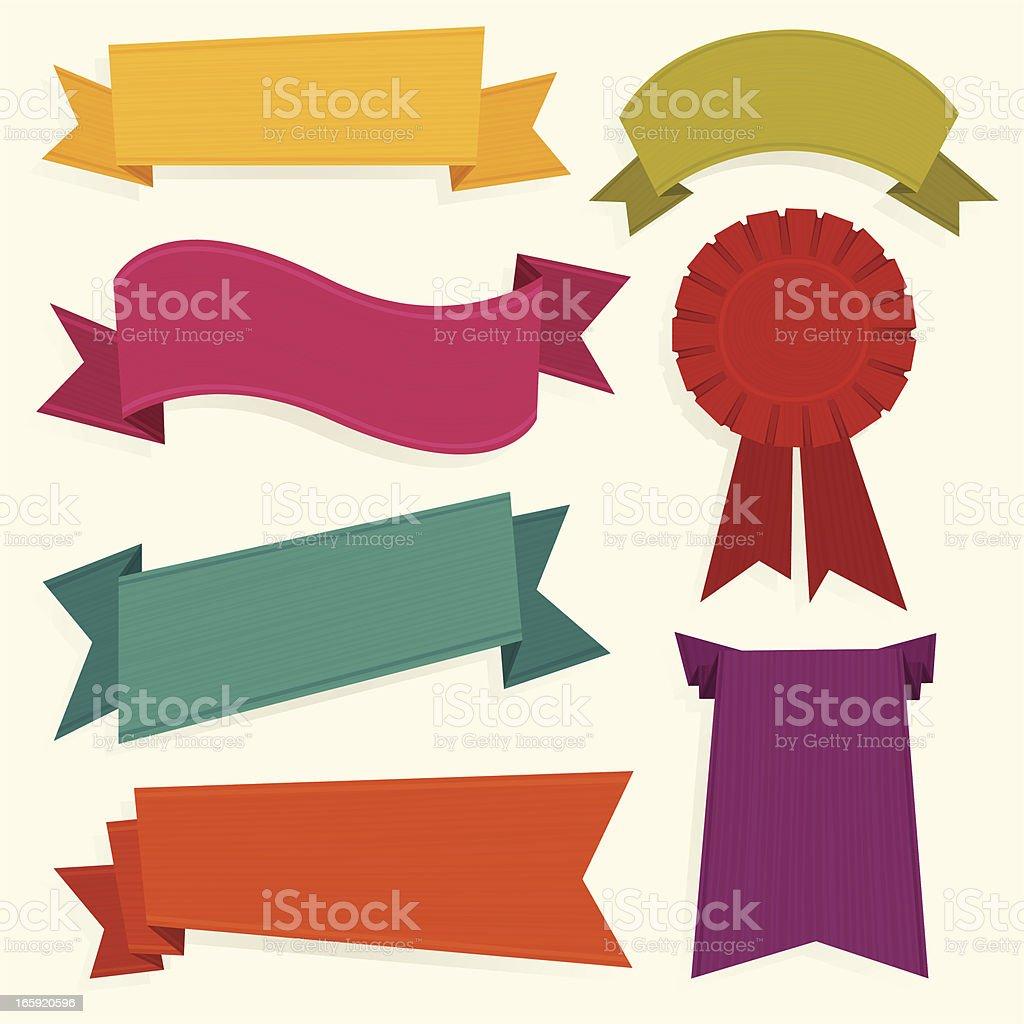 Colorful ribbons royalty-free stock vector art
