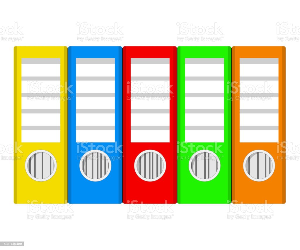 colorful office accessories. Brilliant Office Colorful Ring Binders On White Stock Vector Illustration Office  Accessories Royaltyfree Colorful And Office Accessories