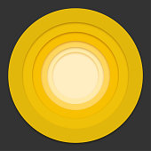 Water rings. Sound circle wave effect vector
