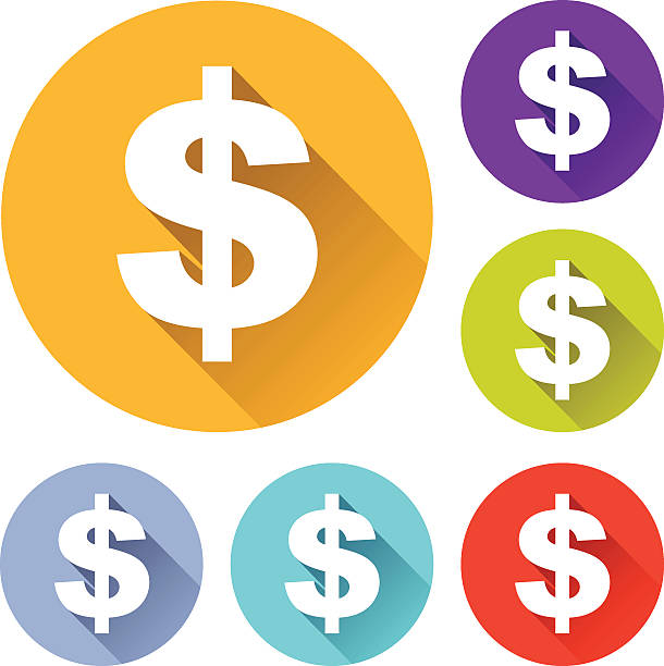 Best Dollar Sign Icon Illustrations, Royalty-Free Vector