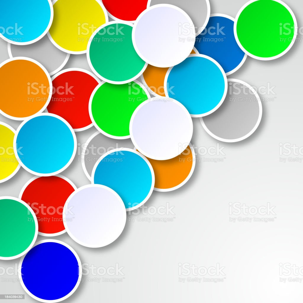 colorful round pattern background vector art illustration