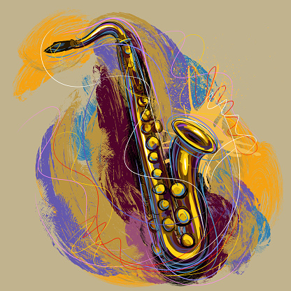 Colorful saxophone