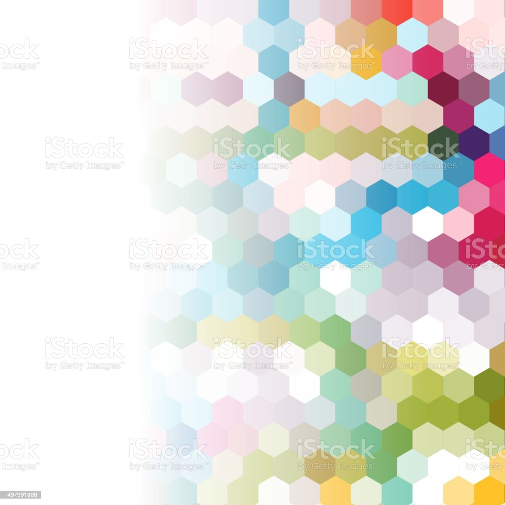 colorful seamless hexagon pattern background vector art illustration