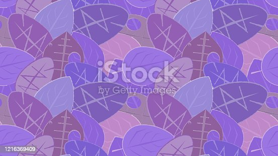 istock Colorful seamless leafy background. 1216369409