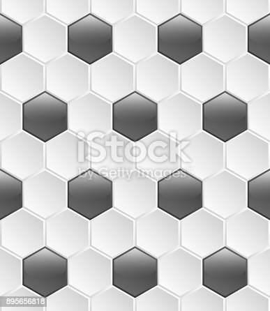 istock Colorful seamless pattern of hexagons 895656818