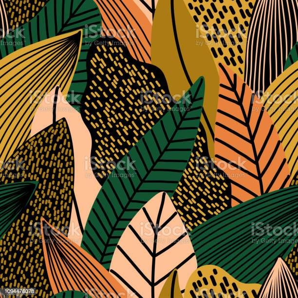 Colorful seamless pattern of tropical exotic leaves vector id1094476078?b=1&k=6&m=1094476078&s=612x612&h=t7gr5g gjcahpfwwrv uzoeoamplmkae5d8okftd6lc=