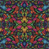 Colorful seamless pattern of various shapes