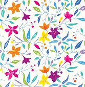 Colorful seamless vector floral pattern.