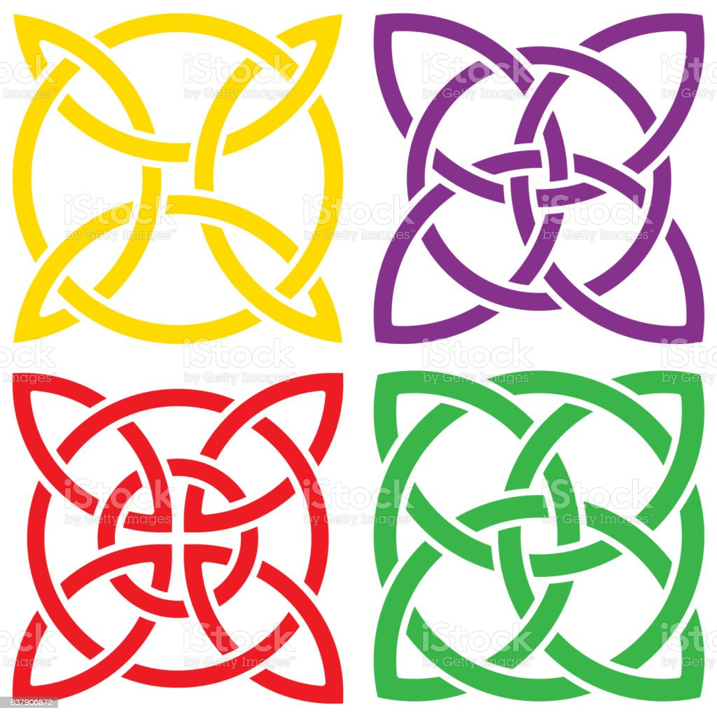 Colorful set of celtic shamrock knot in circle symbol of ireland colorful set of celtic shamrock knot in circle symbol of ireland royalty free colorful biocorpaavc Gallery