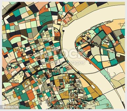 colorful Shanghai art map