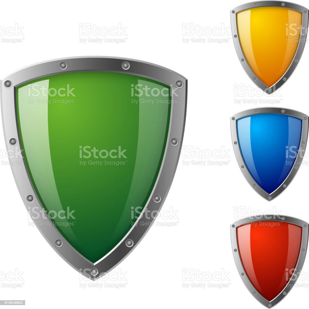 Colorful sheild - Illustration vectorielle