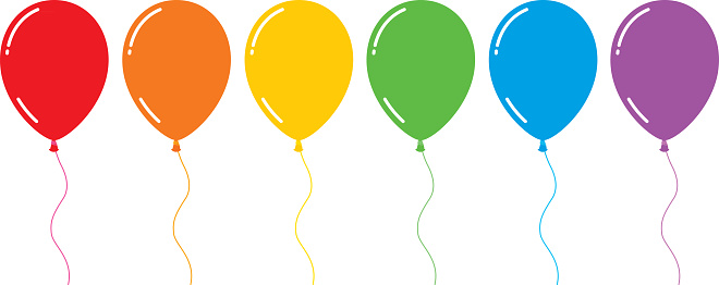 Colorful Shiny Flat Balloons