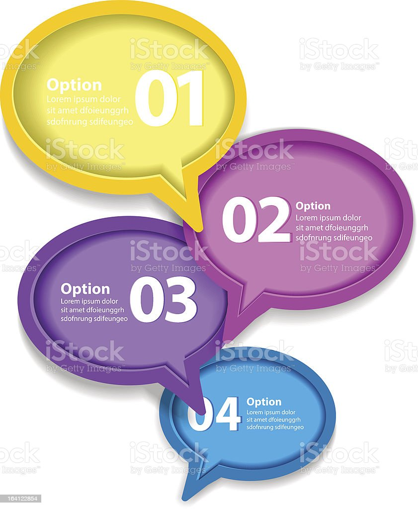 Colorful shiny speech bubbles royalty-free stock vector art