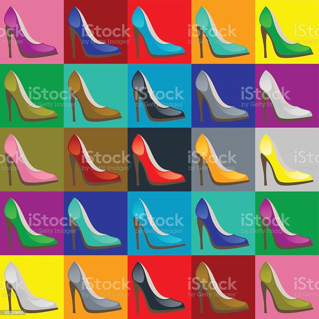 Desenho de Sapato de salto aberto pintado e colorido por