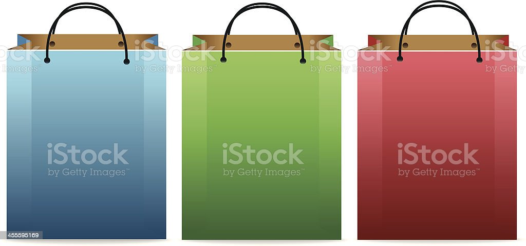 Colorful Shopping Bags vector art illustration