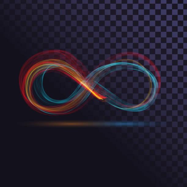 illustrations, cliparts, dessins animés et icônes de signe coloré de l'infini - infini