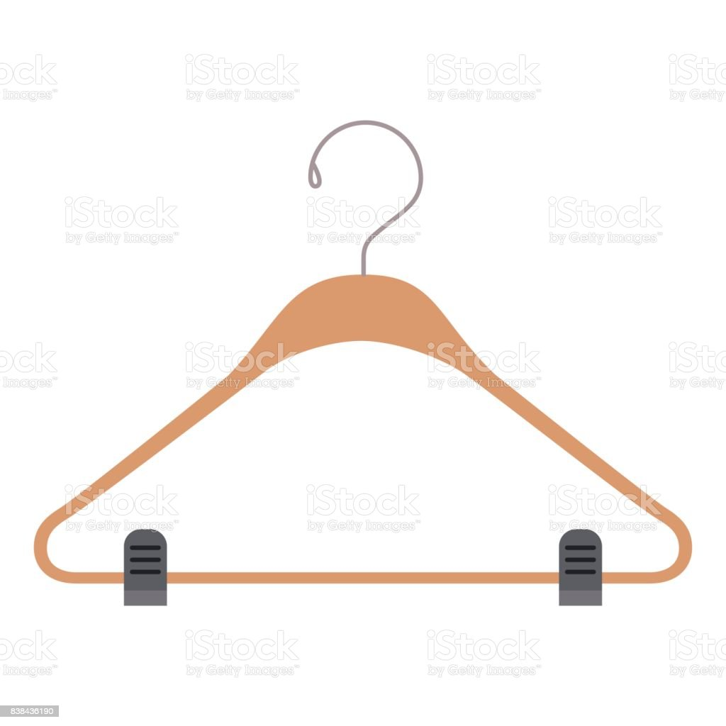colorful silhouette of clothes hanger vector art illustration