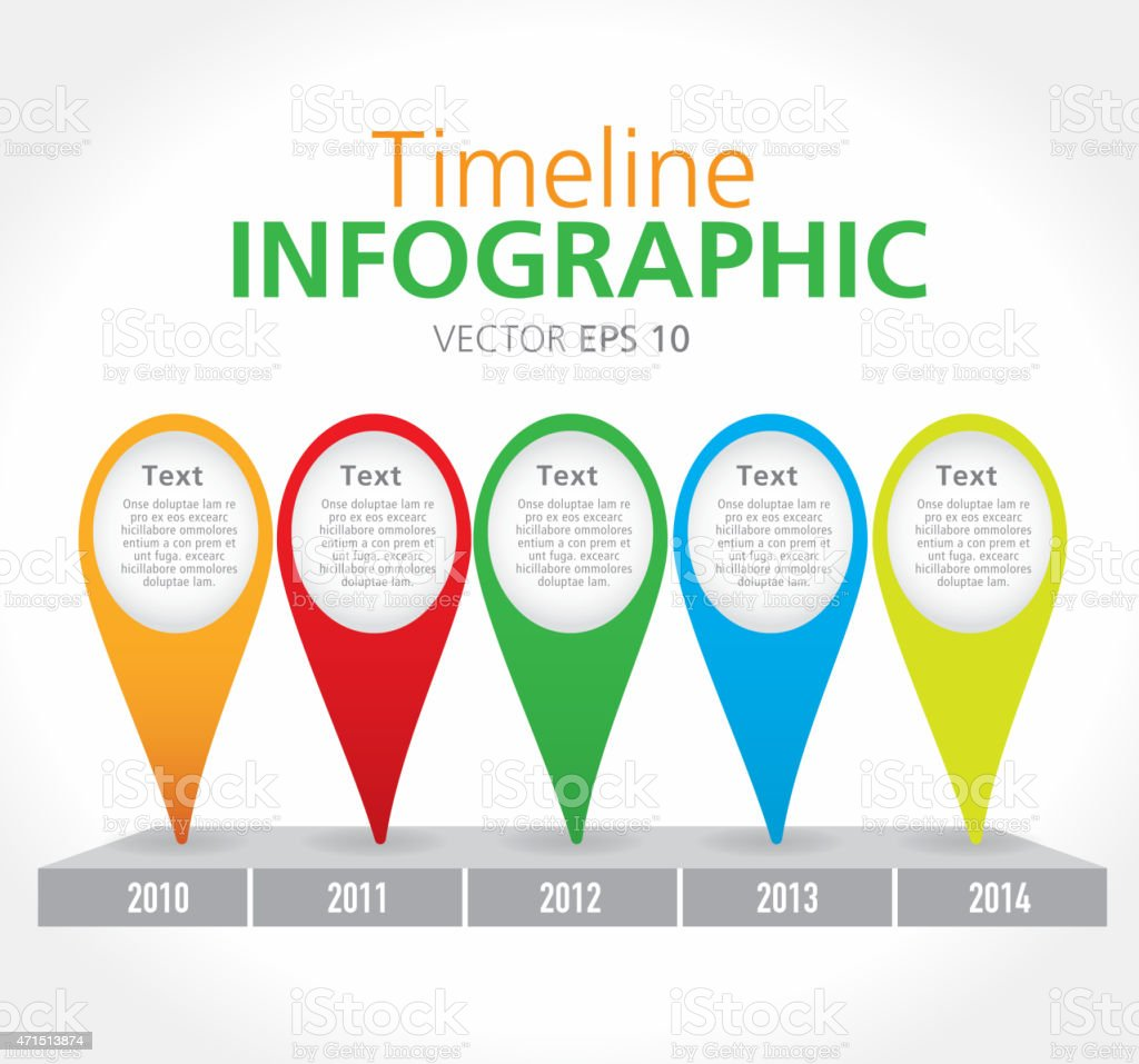 Simple Art Timeline : Colorful simple timeline infographic with graph comparison