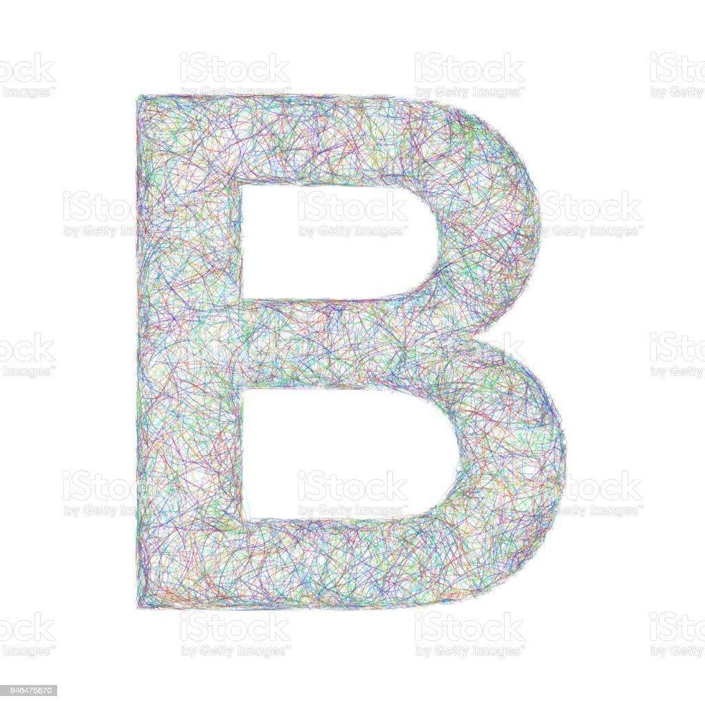 Colorful Sketch Font Design