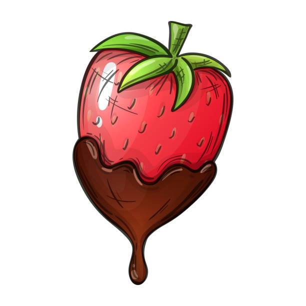 24 Drawing Of Chocolate Covered Strawberries Illustrations Clip Art Istock