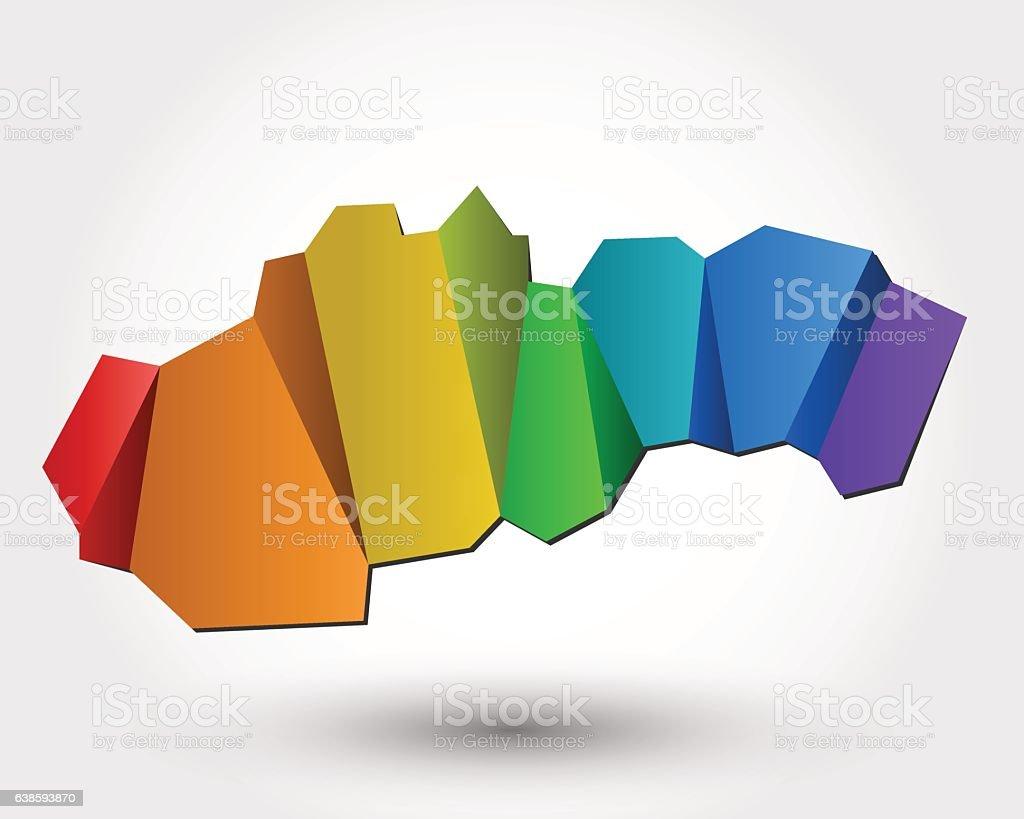 colorful Slovakia vector art illustration
