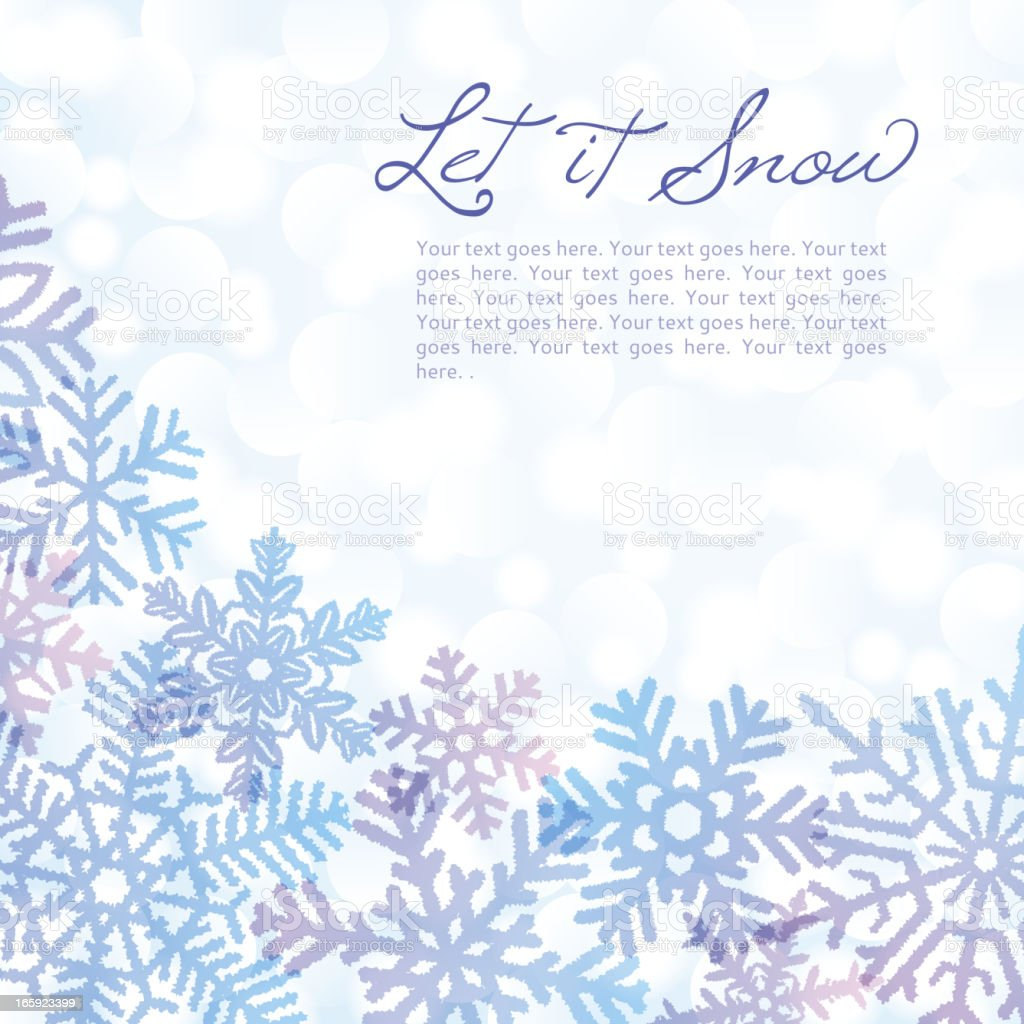 Colorful Snowflake Background royalty-free stock vector art