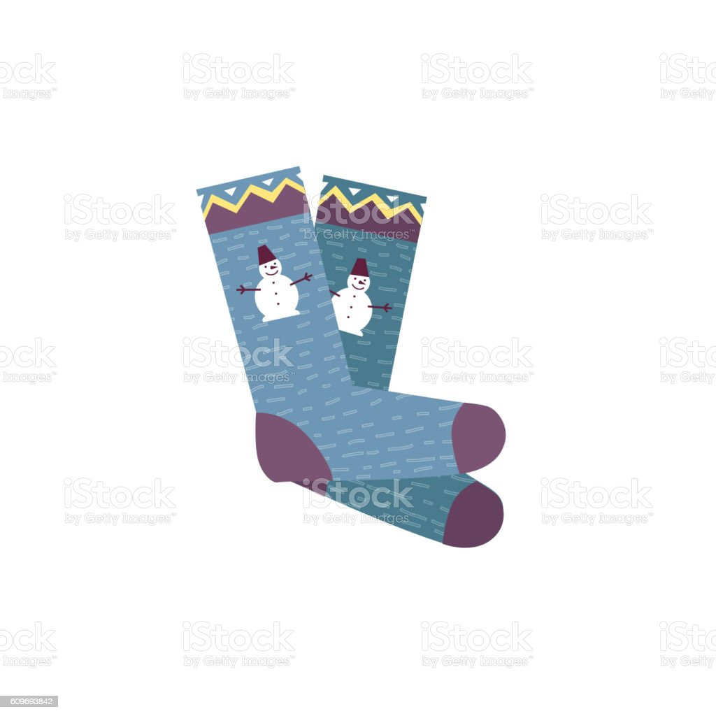 Colorful Socks Pair vector art illustration
