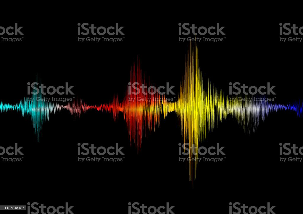 Colorful Sound Wave Abstract Background Pulse Music Audio