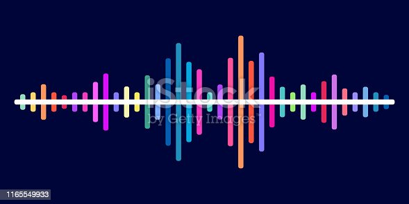 Colorful sound wave vector background