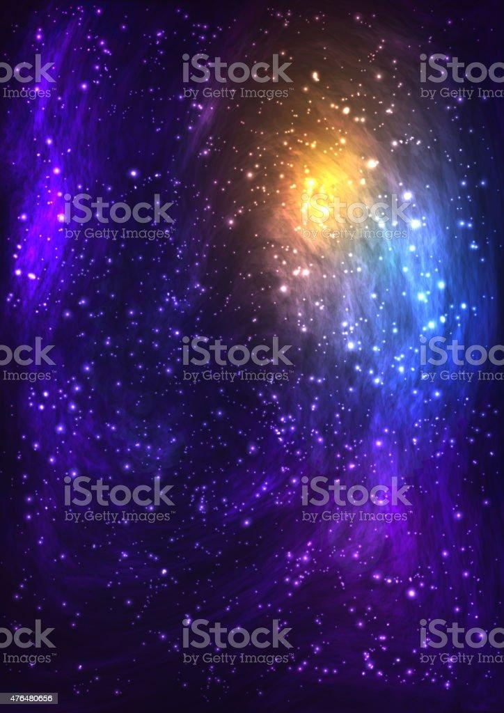 Bunte space Hintergrund mit Nebel, erstklassige Staub, in helles Licht.  Vektor - – Vektorgrafik