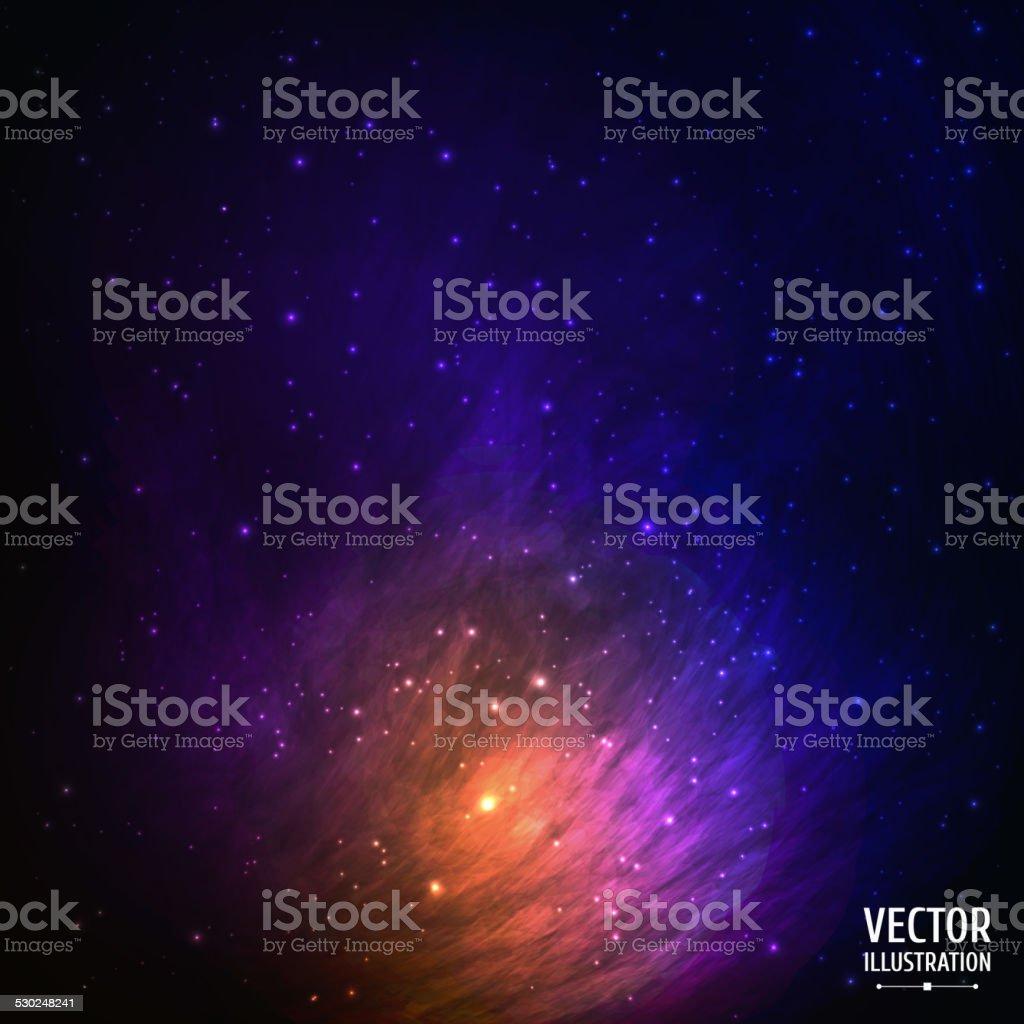Bunte Raum Galaxy Hintergrund. – Vektorgrafik
