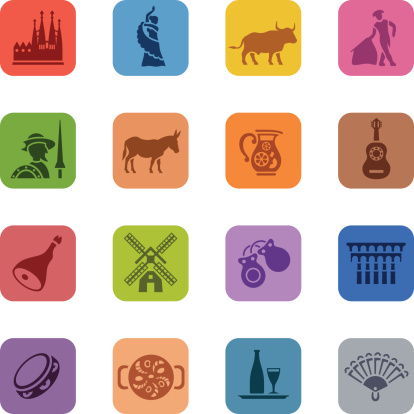 Colorful Spain Icon Set