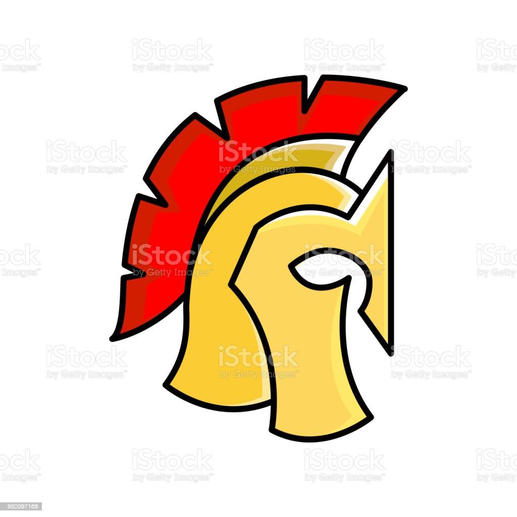 Colorful Spartan Helmet Greek Or Roman Warrior Gladiator Legionnaire