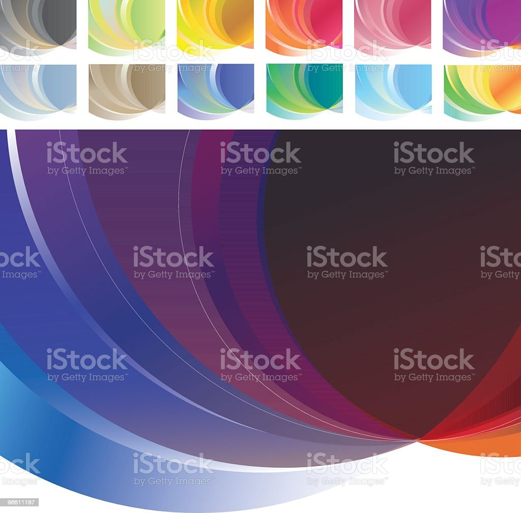 Colorful Spectrum Backgrounds - Royalty-free Abstract stock vector