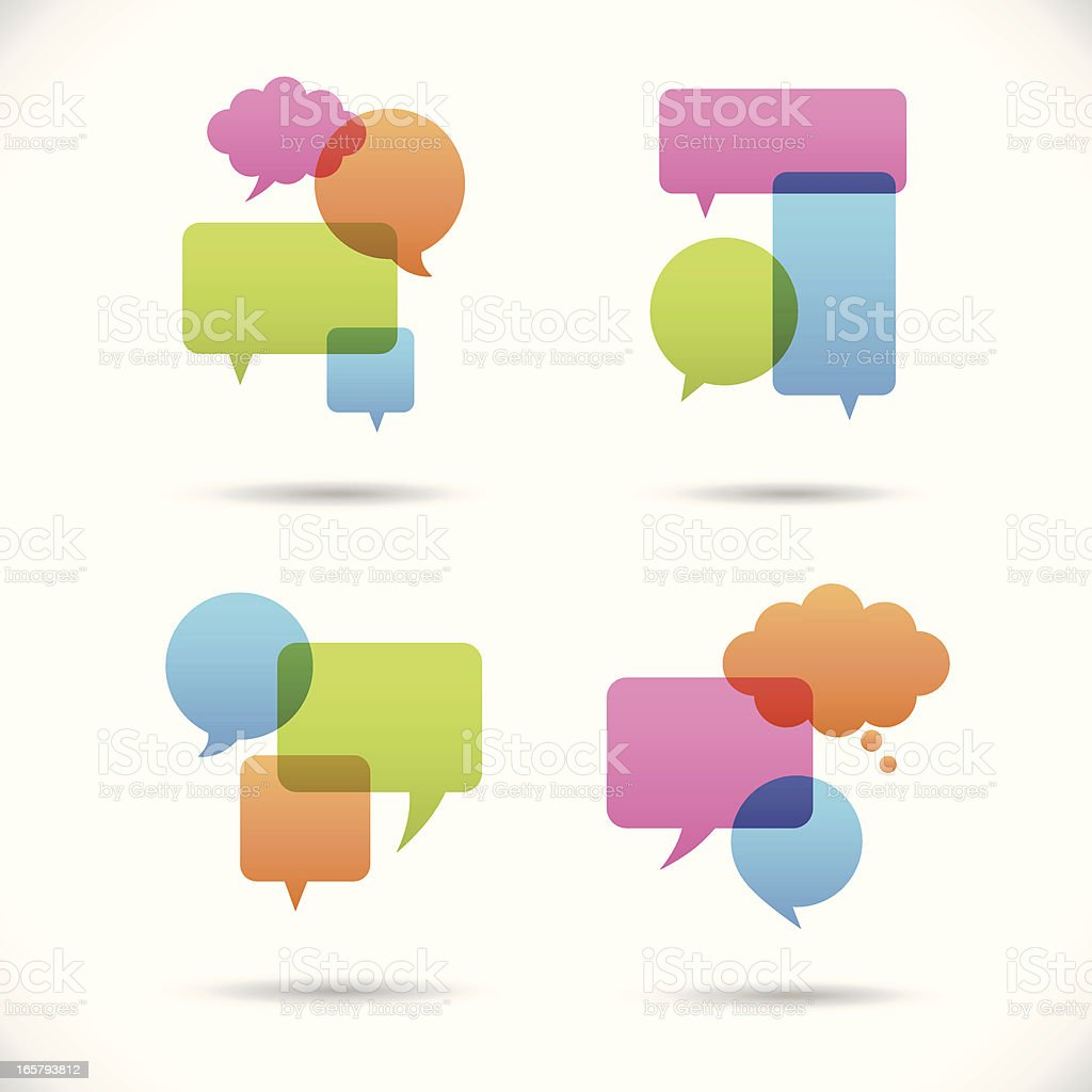 Colorful Speech Bubbles royalty-free stock vector art