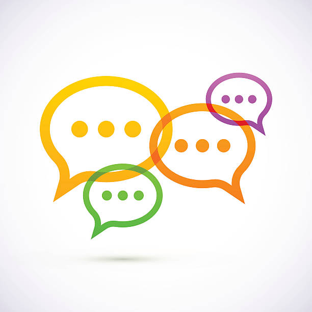 Colorful speech bubbles This illustration is AI 10 EPS vector with transparency. High resolution JPEG file included (5000 x 5000 pixels) verbaasd stock illustrations